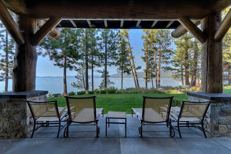 The amazing lakefront location offers unparalleled views from your private patio.