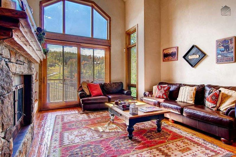 Pónte cómodo en el sofá y mirar en esas vistas impresionantes a la montaña.