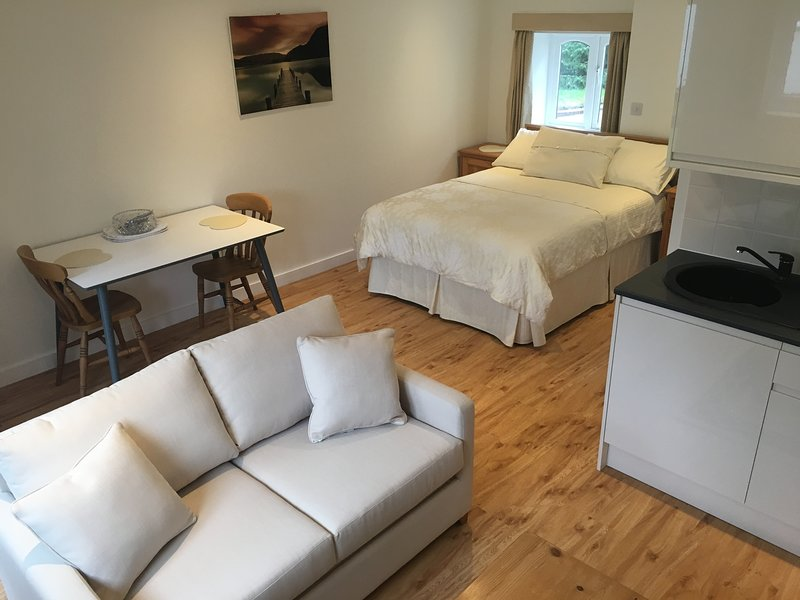 Studio 2 - Double room Studio with lounge area, private bathroom & kitchenette, vacation rental in Castle Hedingham