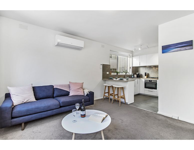 Abierta sala de estar