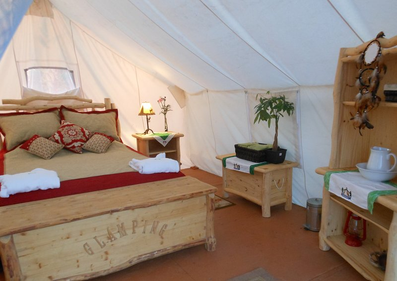 Glamping Suite - Interior layout.