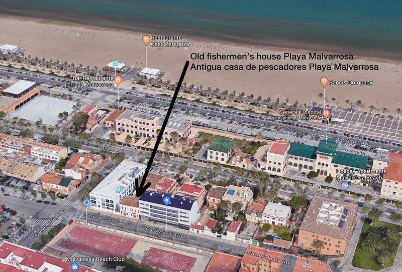 Antigua casa de pescadores en la Playa de la Malvarrosa, vakantiewoning in Valencia