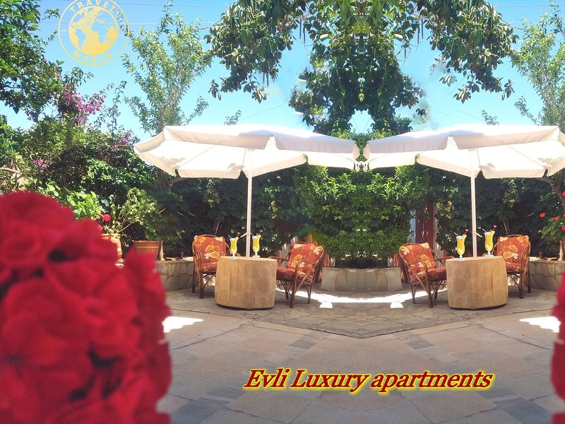 Les jardins d'Evli avec une vue magnifique