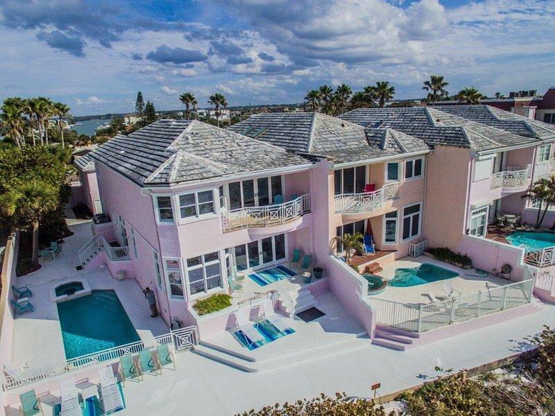 Vista aérea de Belleair Beach Casa del Golfo