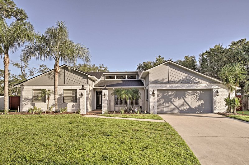 Spend a family vacation at this 4-bedroom, 2.5-bath vacation rental home.