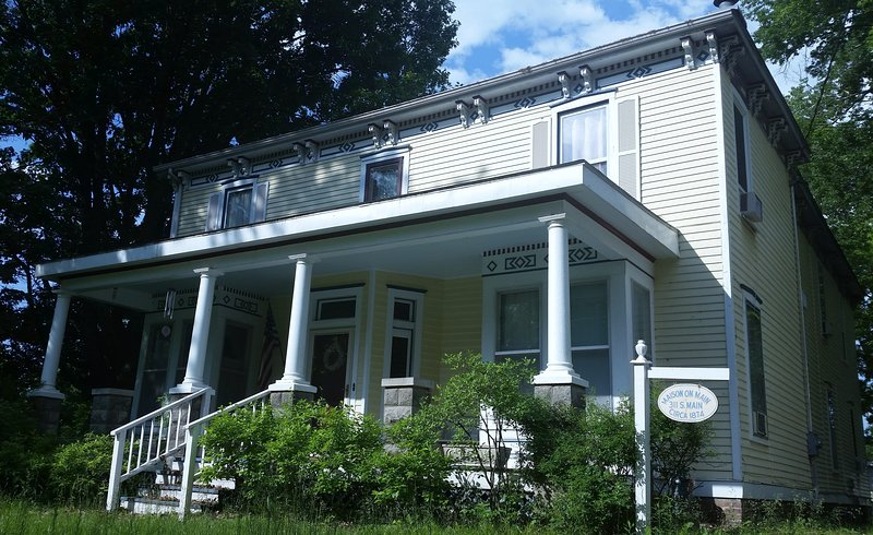 The whole first floor of this 1874 historic house is available to rent for you next getaway.
