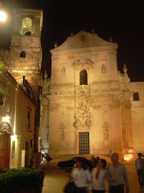 The facade of the Duomo of San Martino in Martina Franca.