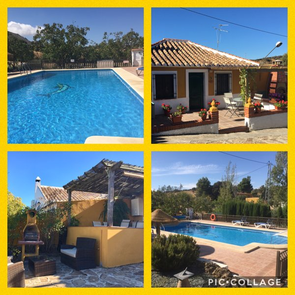 2 villas, ideal for 2 families, large heated pool, play area, outdoor bar,WIFI, Ferienwohnung in Antequera