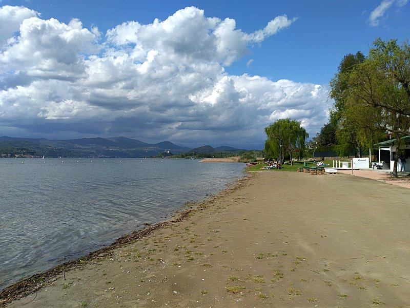 the nearby beach home
