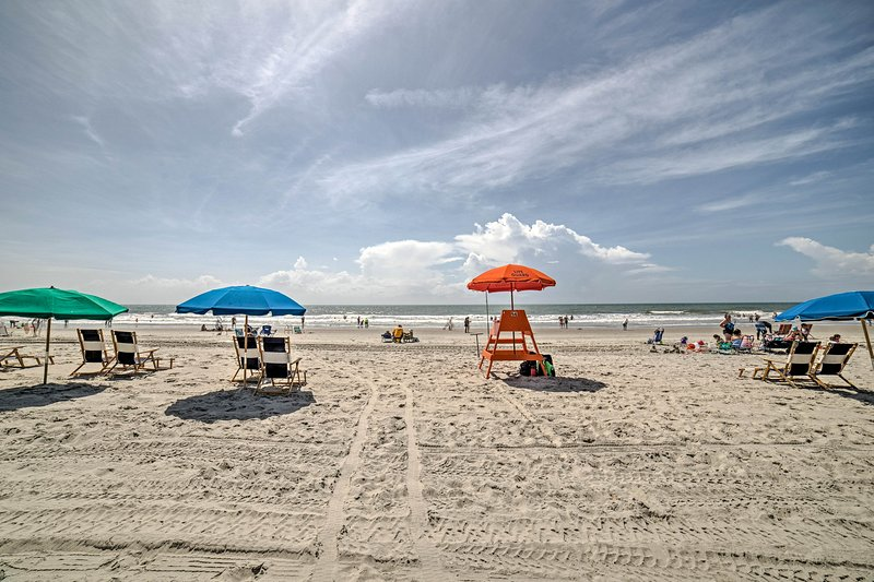 Broadway at the Beach is less than 15 minutes away from this property!
