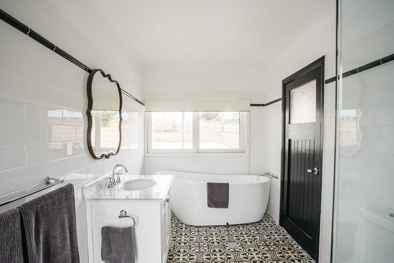 Bathroom with tessellated tiles