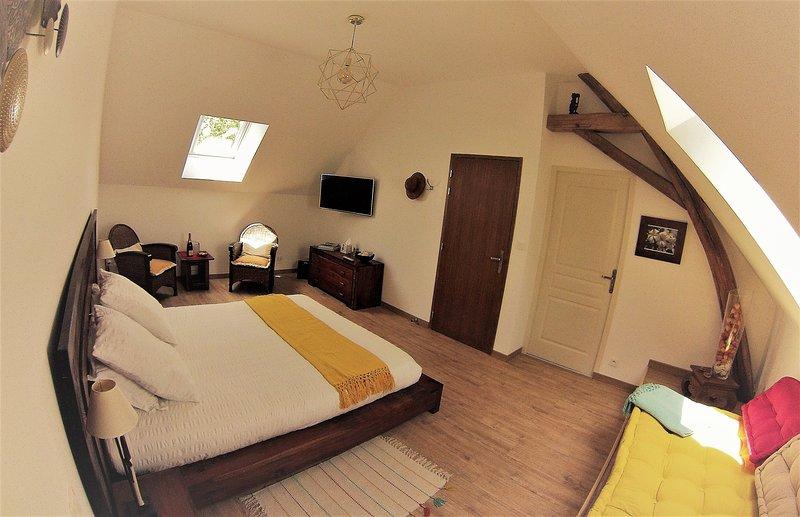 Chambre MOABI  Meublé de tourisme 4*, holiday rental in Meusnes