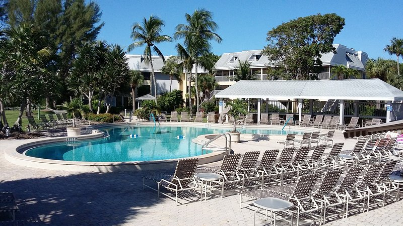 Pool and deck area at Tortuga Beach Club.