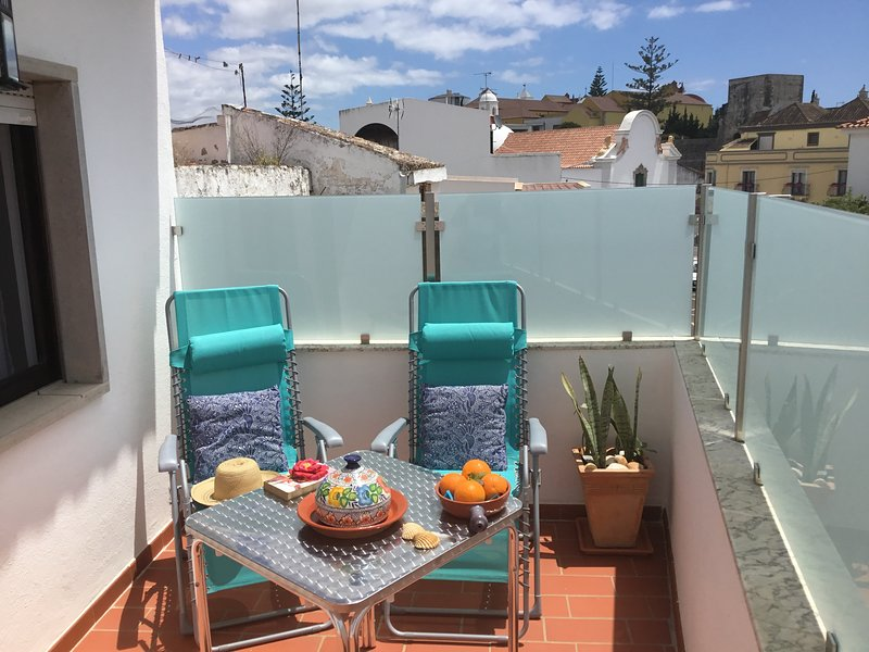 Enjoy your own private south-facing sun terrace with view of Tavira historic centre.