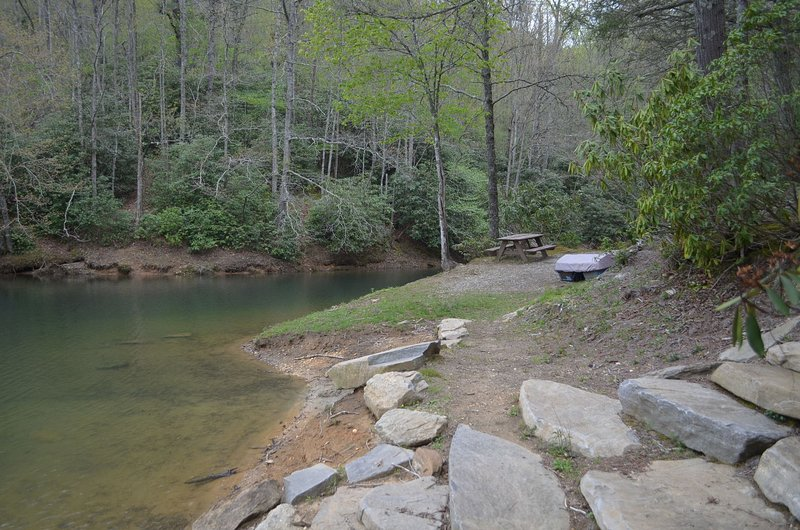 Private community lake access