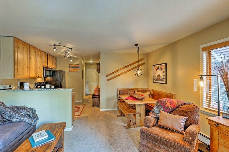 Explore Breckenridge beauty from this 1-bedroom, 1-bath vacation rental condo.