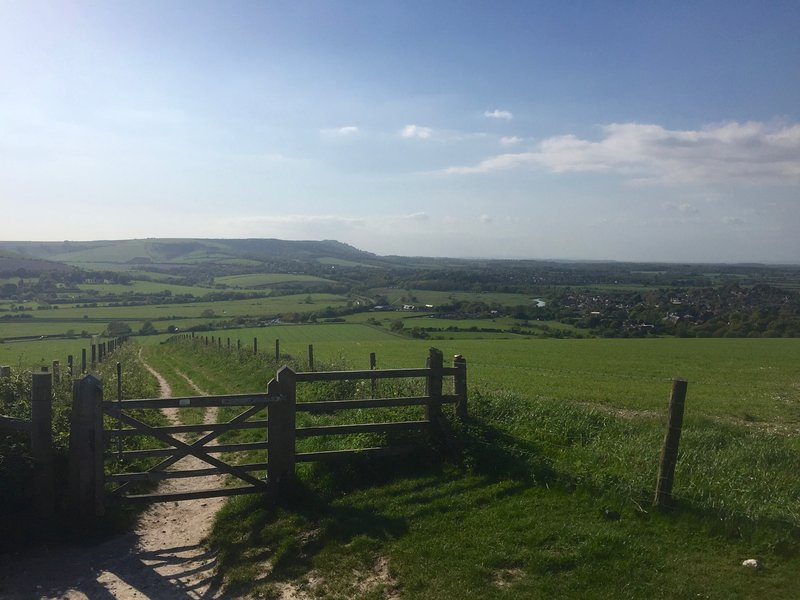 View from Beeding Hill towards Steyning