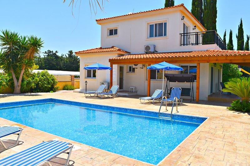 Argaka Beach Front Villa - Uninterrupted Panoramic Sea Views - Private Pool, vacation rental in Limni