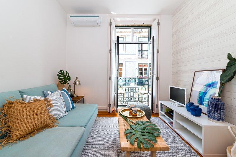 Soggiorno confortevole con aria condizionata e wifi