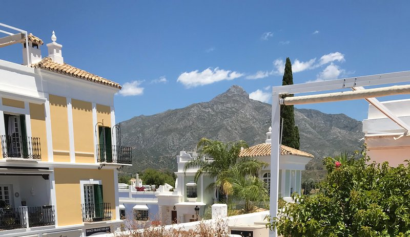 View from terrace to La Concha mountain - the climb is a challenge
