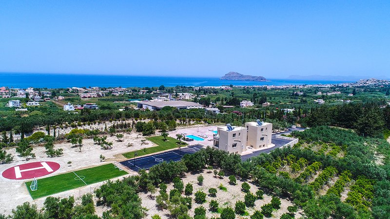 Liberty&Freedom sea view villa with private helipad,pools and playground!