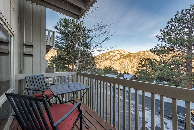 Remote Estes Park Mountain Condo - Rockies 2 Miles, vacation rental in Estes Park