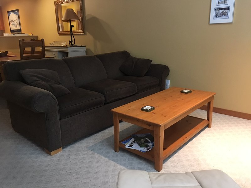 Sofá-cama en la sala de estar