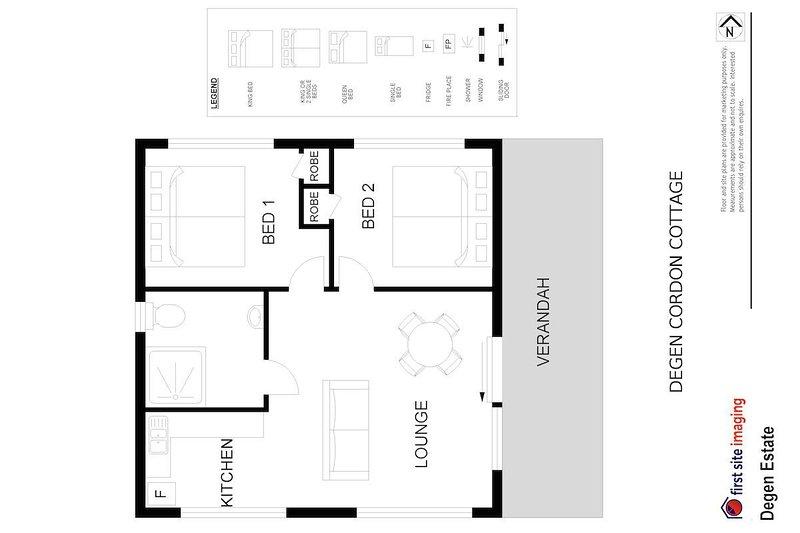Alojamiento en Hunter Valley - Degen Estate - Pokolbin - Plano de planta
