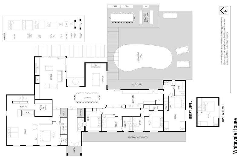 Alojamiento en Hunter Valley - Whitevale Estate - Lovedale - Plano de planta