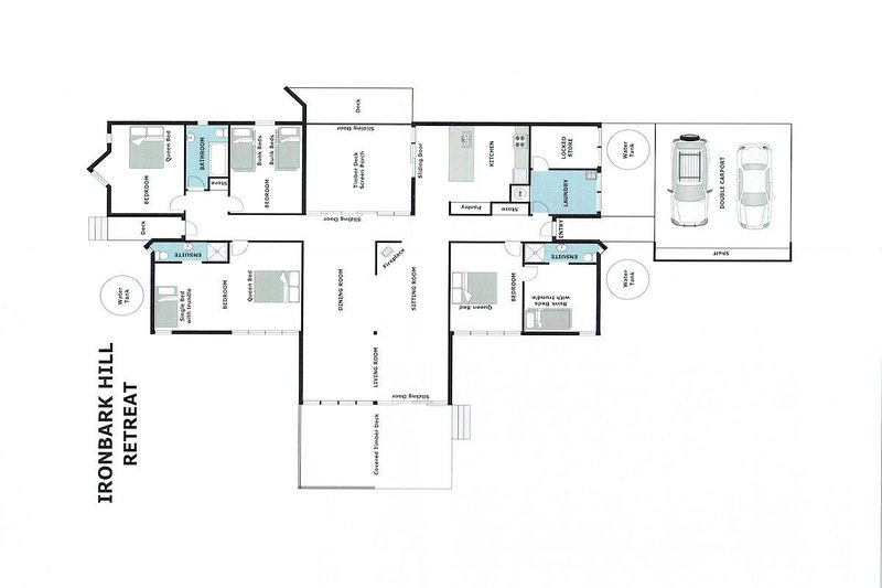 Hunter Valley Accommodation - Ironbark Hill Retreat - Pokolbin - Floor Plan