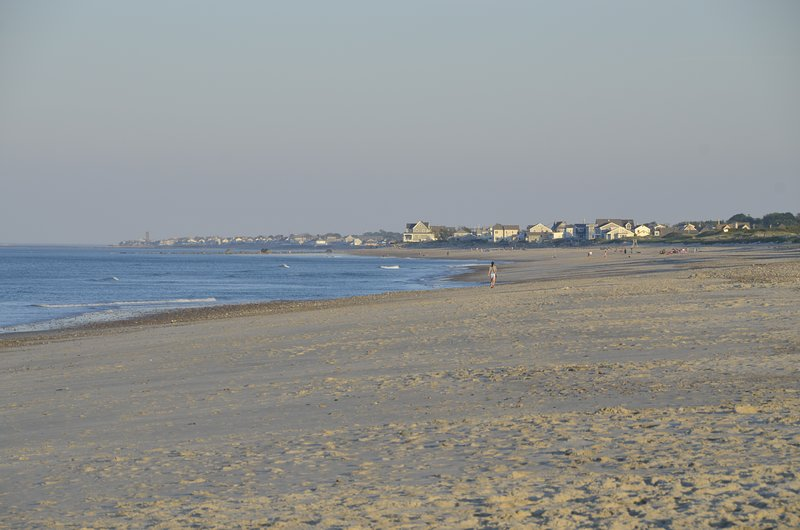 Humarock playa al atardecer, mirando al sur, hacia Rexhame