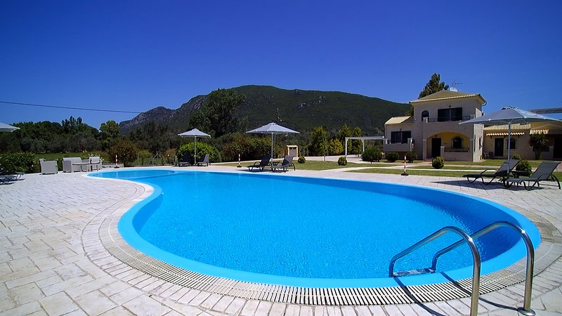 Our villa is a privately owned gated property with 3 luxurious houses, swimming pool, BBQ and park