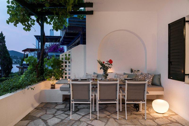 The veranda outside the living-room