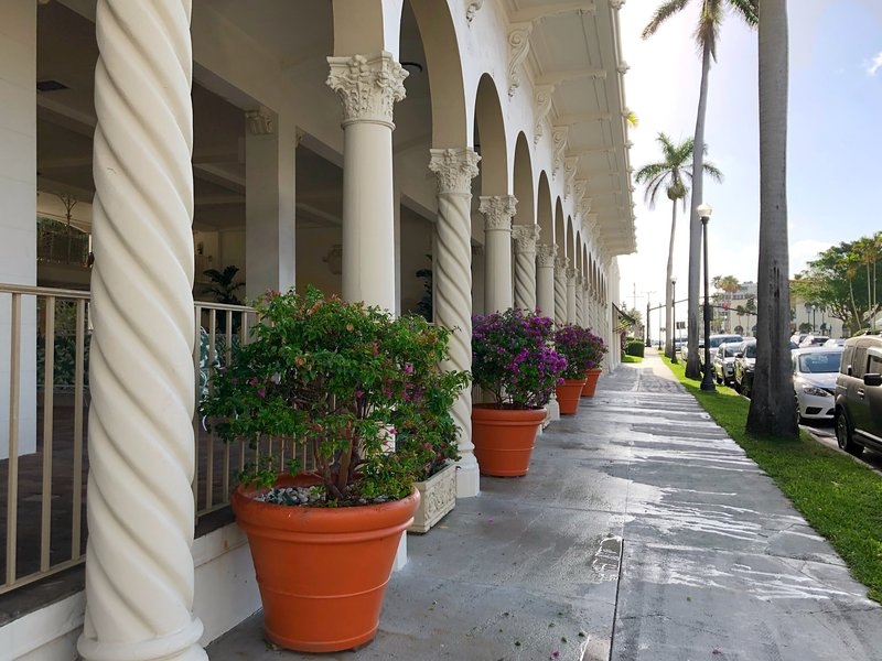 Exterior of historic Palm Beach Hotel