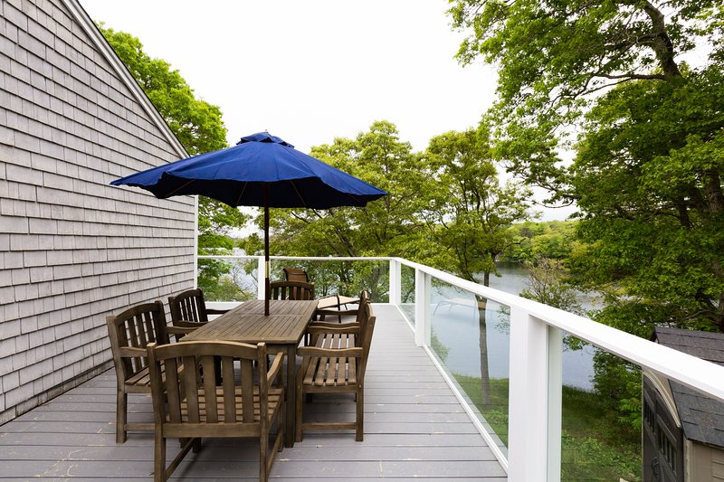 Outdoor dining on the deck - will have grill as well