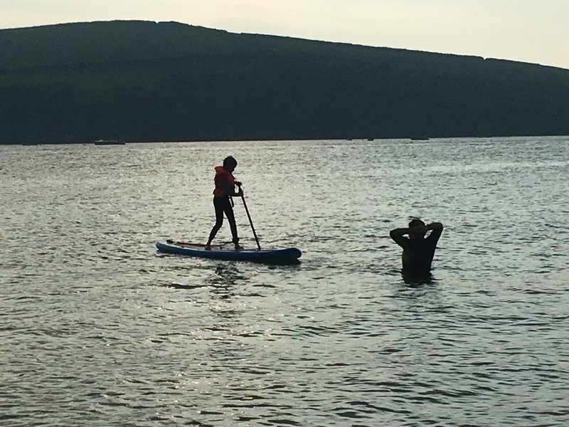 Paddle Boarding on the estuary