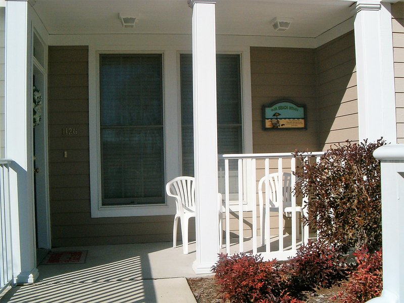 Inviting front entrance