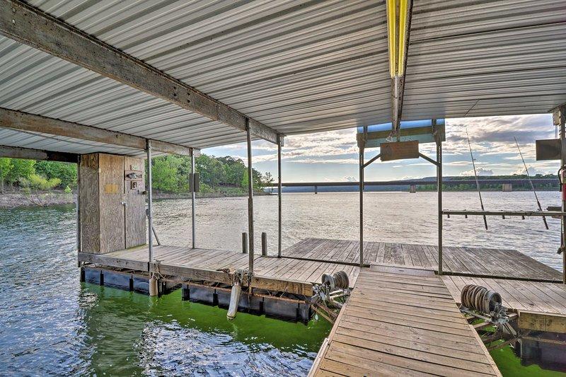 This cabin includes a private boat slip.