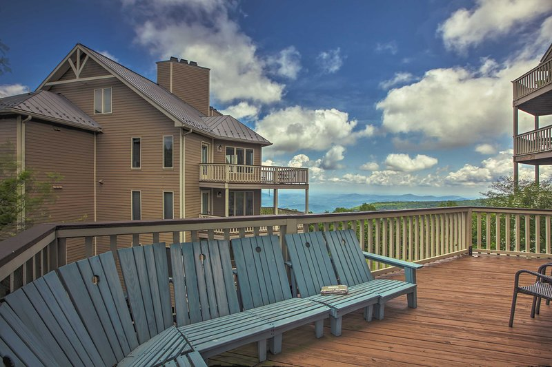 You'll be treated to unbeatable views from the balcony!