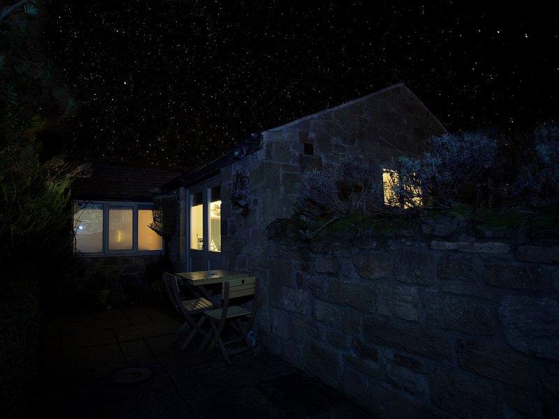 Em uma noite clara ver as belas estrelas