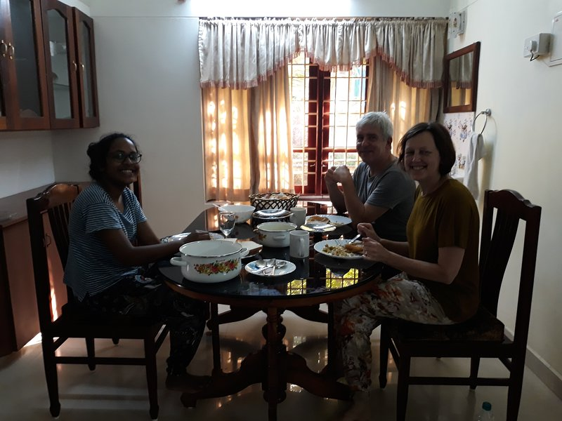 Our Valuable Guests Having Homely food