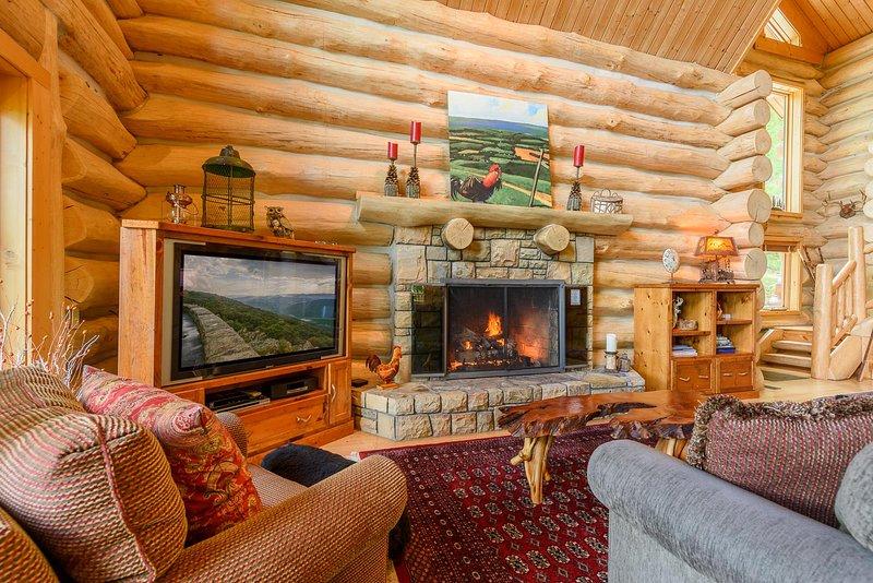 Wohnbereich in der Spice Mountain Lodge