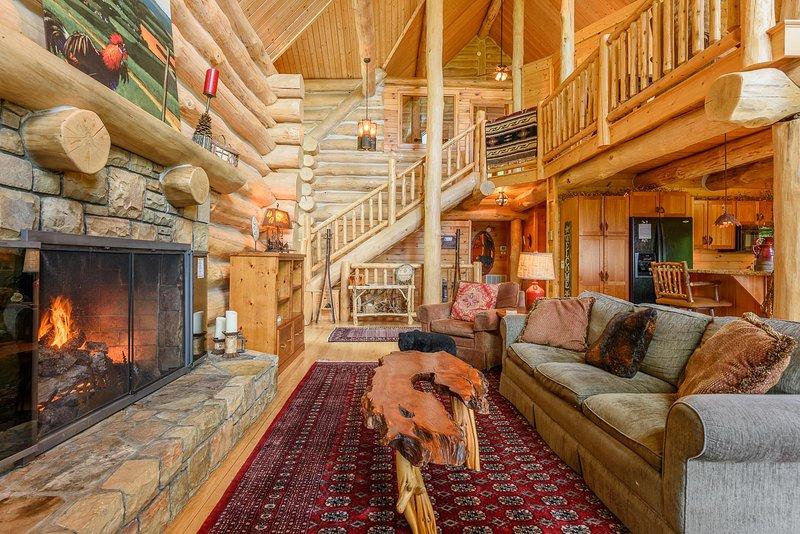 Spice Mountain Lodge mit Gaskamin, gewölbten Decken