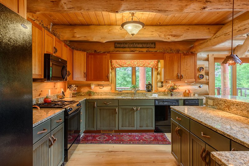 Große Küche im Spice Mountain Lodge