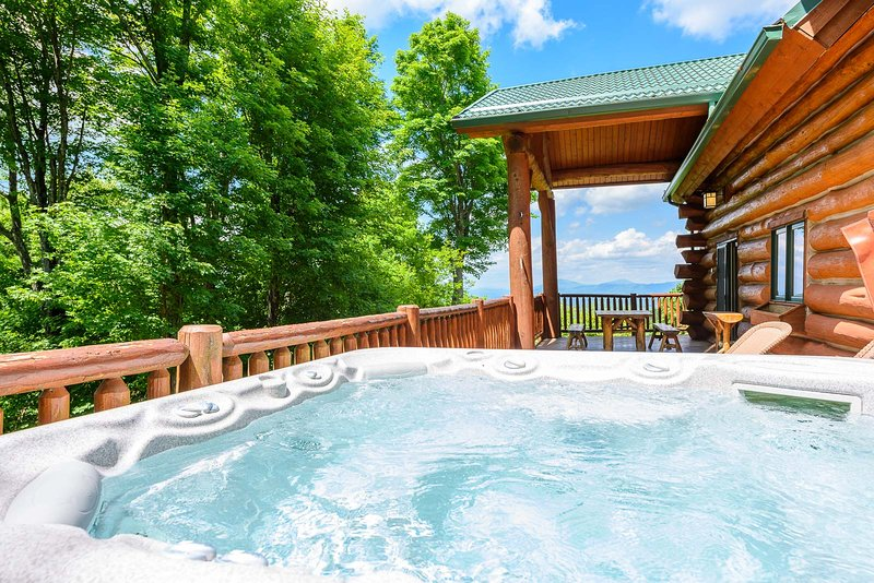 Whirlpool in der Spice Mountain Lodge