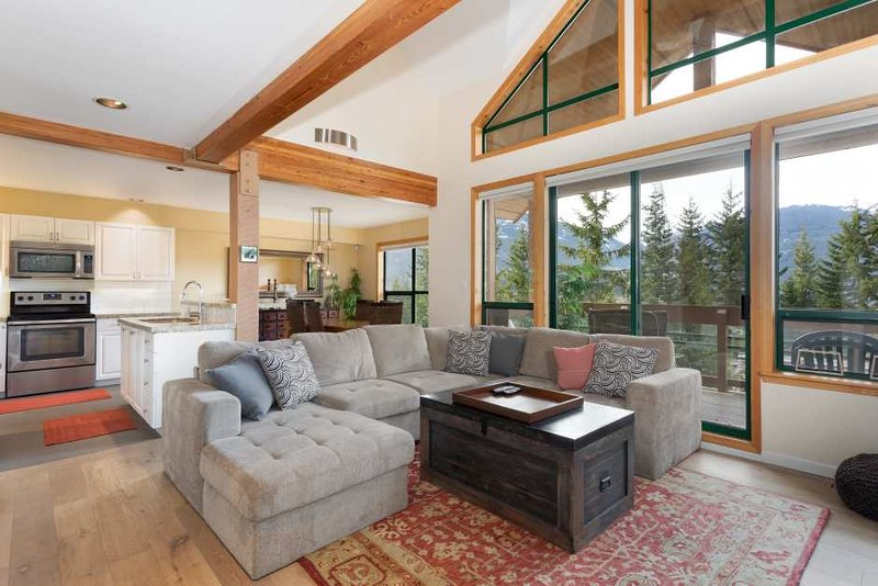 High Ceilings and Tons of Sunlight in Living Area