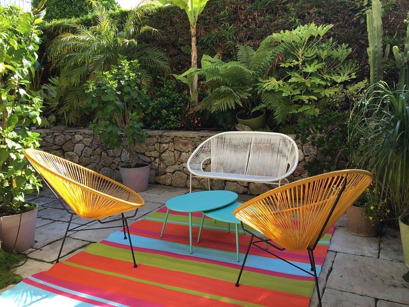 Mycket fin trädgård studio, pool. Perfekt läge i Cap d'Antibes