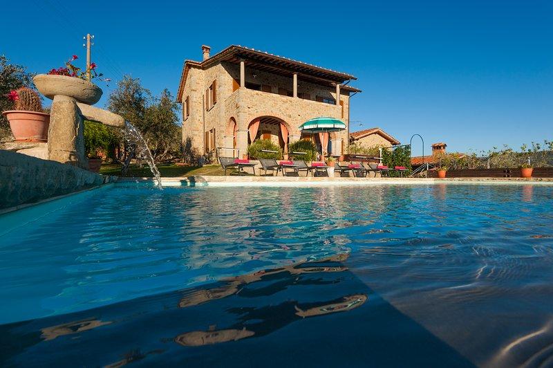 Tuscany charm Villa Senaia, holiday rental in Castiglion Fiorentino