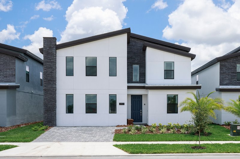 Storey Lake community villa front view for weekly rentals.