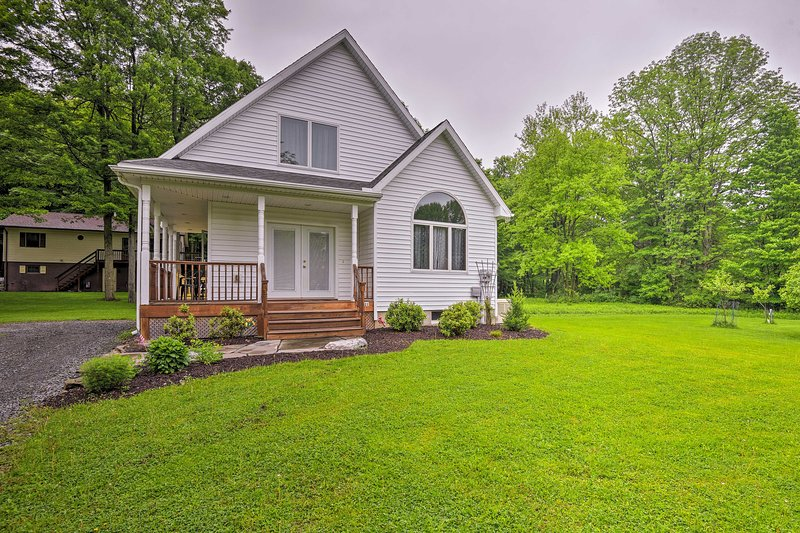 Enjoy a relaxing family trip when you stay at this vacation rental home.